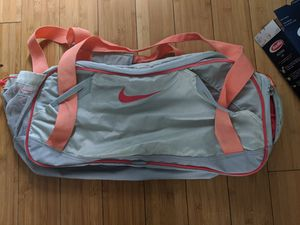 Nike orange/grey gym travel duffle bag for Sale in Santa Monica, CA