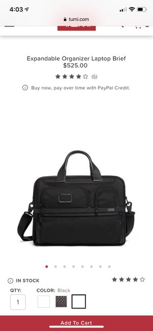 TUMI Expandable Organizer Laptop Briefcase for Sale in Columbia, MO