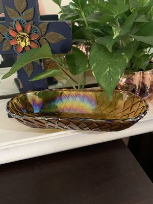 Rainbow basket Carnival Glass dish for Sale in Ontario, CA