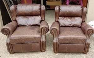 2 Chairs - leather for Sale in Mansfield, TX