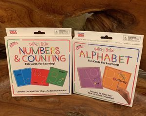 Alphabet & Numbers cards learning tools toddlers for Sale in Pompano Beach, FL