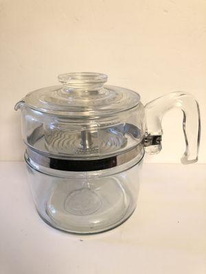 Vintage Pyrex glass coffee percolator for Sale in Sacramento, CA