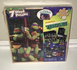 New Sealed TMNT 7 Wood Puzzle Game just $5 for Sale in Port St. Lucie, FL