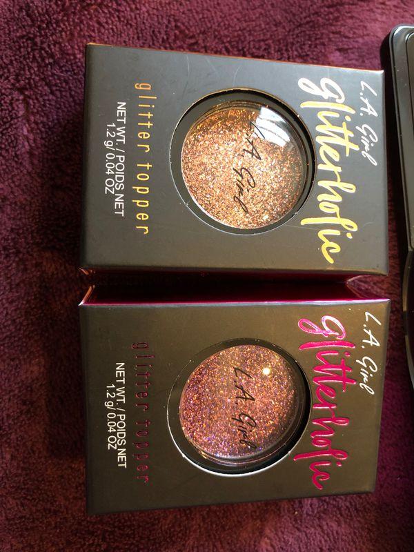 LA Girl eyeshadow and glitter