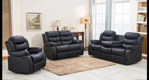 Sofa recliner and Loveseat recliner and Recliner chair $999 Cash Or Take It Home With $54 Down for Sale in Dallas, TX