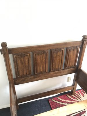 Solid Wood Good Condition Twin Bed for Sale in Raleigh, NC