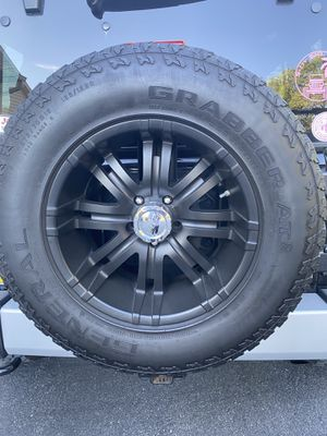 Set of 5 American Eagle wheels with Tires for Sale in Reading, PA