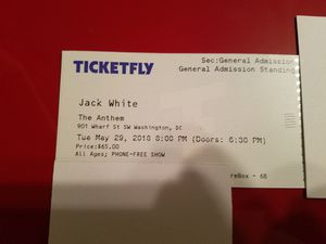 Jack White 5/29/2018 The Anthem Washington DC for Sale in US