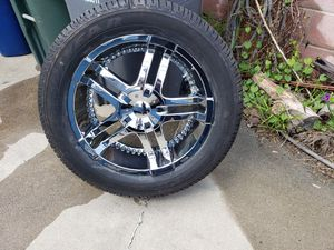 4 rims with goodyear eagle 2 p285/50r20 tires for Sale in La Mirada, CA