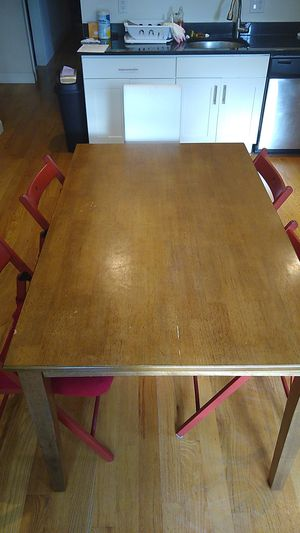 Sturdy wood dining table for Sale in Cambridge, MA