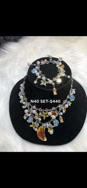 Swarovski Crystal necklace (Sea Oceans) Sets for Sale in Westminster, CA