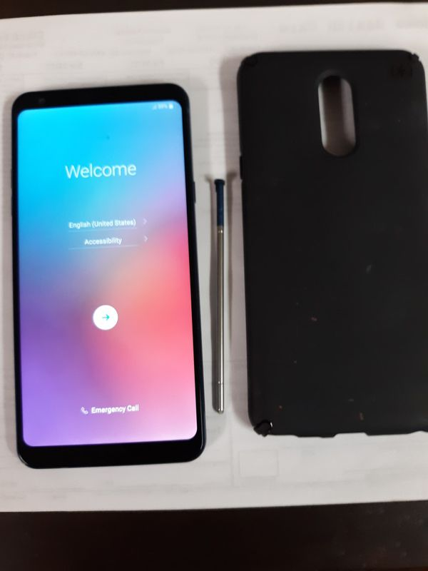 Lg Stylo4plus w/ stylus!Free phone case