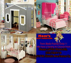 New Twin Beds Frame only for Sale in Fresno, CA