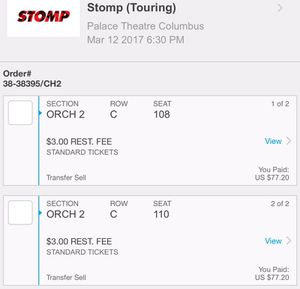 Stomp tickets for Sale in Westerville, OH