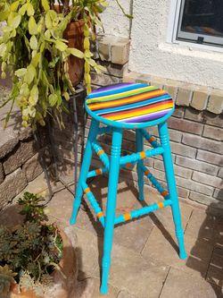 Handpainted Sarape bar stool for Sale in Oceanside,  CA