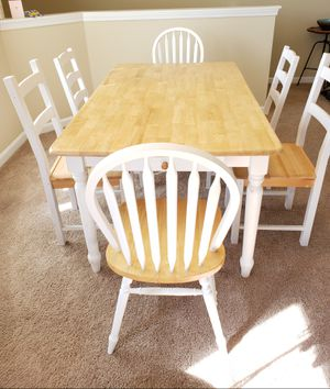 Solid wood table and 6 chairs for Sale in Hermitage, TN