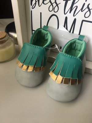 Baby moccasins size 3-6 months for Sale in Los Angeles, CA