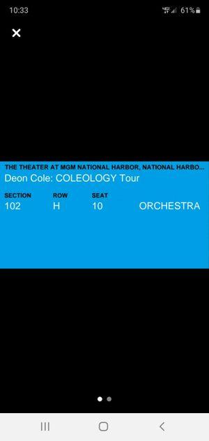 Deon cole mgm grand comedy event 2 tickets for Sale in Alexandria, VA