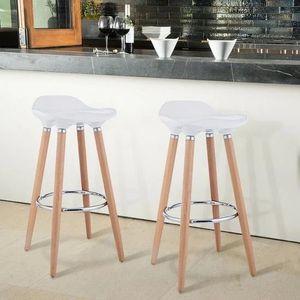 New!!!! Set of 2 Bar Stools Breakfast Barstools w/ Wooden Legs for Sale in San Bernardino, CA