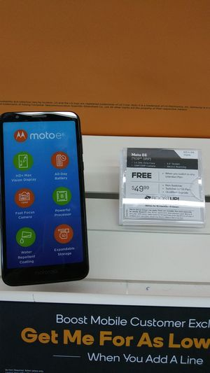 MOTO E6! FREE WHEN YOU SWITCH! COME SEE US AT BOOST MOBILE ON 50TH AND AVE L! for Sale in Lubbock, TX