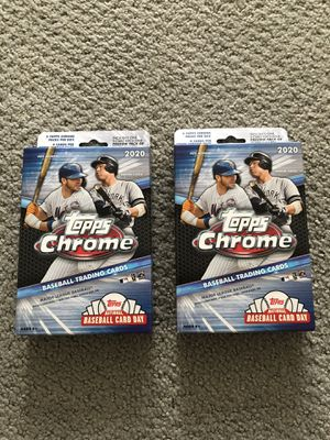 2 2020 Topps Chrome Hanger Boxes for Sale in Herndon, VA