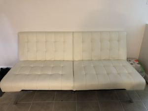 White Futon in perfect shape. $80 OBO need it gone ASAP for Sale in Takoma Park, MD
