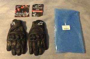 NEW! Alpinestars Celer Black Leather Short -Racing Sports Motorcycle/Motorbike Gloves LARGE for Sale in Troutdale, OR