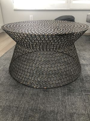 """Metal and Gold Coffee Table 30"""" for Sale in Newport Beach, CA"""