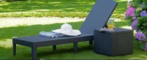 Sunlounger Outdoor Poll Patio Furniture Poll Silla de Piscina Tumbona Allibert Jaipur for Sale in Miami, FL
