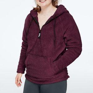 Victoria's Secret PINK Half Zip Teddy Bear Sherpa Hoodie Pullover for Sale in Houston, TX