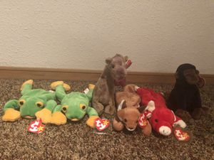 Set of 6 almost like new beanie babies TY for Sale in Redmond, WA