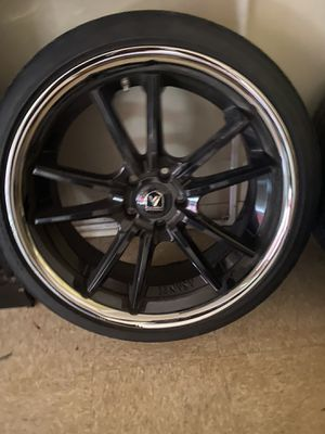 20 inch rims 3 new 1 used tire for Sale in Richmond, VA