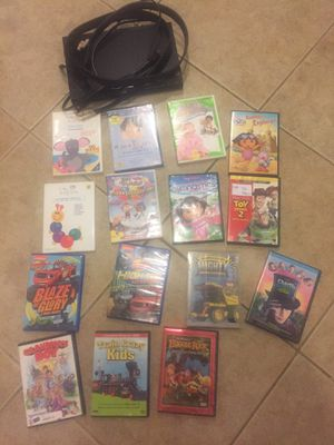 Kids movies & DVD player for Sale in Indio, CA