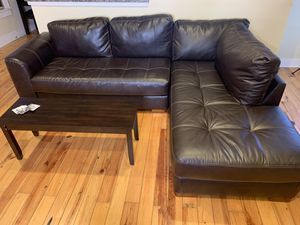 Couch with center table! for Sale in Norfolk, VA