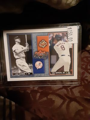 2002 Fleer Rival Factions Cal Ripken Jr and Lou Gehrig for Sale in Phoenix, AZ