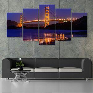 🔥San Francisco Skyline Golden Gate Bridge Canvas Wall Art 🔥Get It Here 👉StunningCanvasPrints,com👈 for Sale in San Francisco, CA
