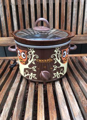 Sunbeam Owl crock pot slow cooker 2-1/2 quart for Sale in Woodinville, WA