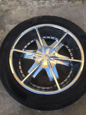 Strada Rims 22 inch 6 lugs tires no good for Sale in San Bernardino, CA