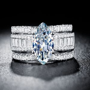 *NEW ARRIVAL* Beautiful 3 PC Marquise Cut Created White Sapphire Wedding Ring Size 7/ 8 / 9 *See My Other 300 Items* for Sale in Palm Beach Gardens, FL