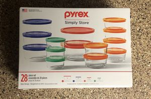 NEW Pyrex 28 Piece Glass Storage for Sale in Chino Hills, CA