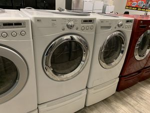 LG frontload washer dryer set electric for Sale in Phoenix, AZ