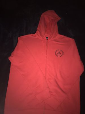 New DC red zip up hoodie with rose design for Sale in Santa Ana, CA