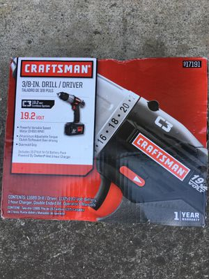 Craftsman lithium cordless drill driver battery charger sealed pack for Sale in San Jose, CA