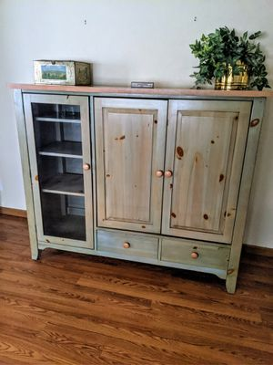 Solid Wood Shabby Chic Entertainment Center for Sale in Danville, IN