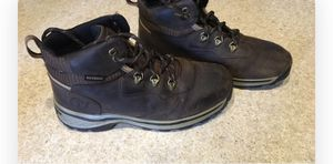 Boys Timberland Hiking Boots, worn once size 4 for Sale in Shipman, VA