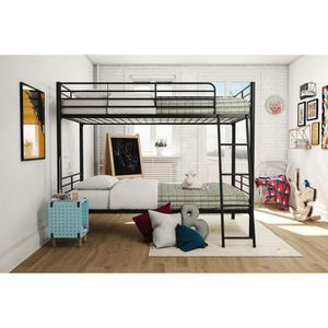 Mainstays Twin over Twin Convertible Bunk Bed New in Box (Black) for Sale in Las Vegas, NV