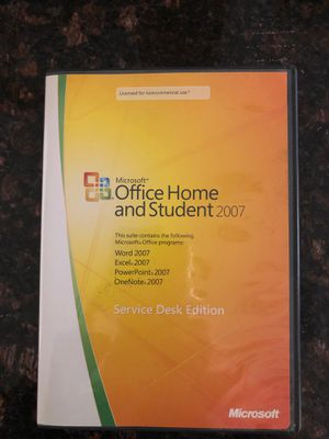 Microsoft 2007 Office Home and Student for Sale in Henderson, NV