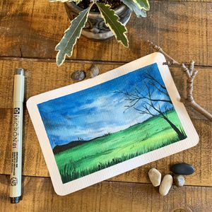 Original watercolor art + postcard Perfect for gifts during the holiday season Perfect Christmas gifts for Sale in Everett, MA