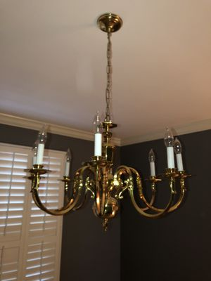 8 light gold chandelier for Sale in Affton, MO