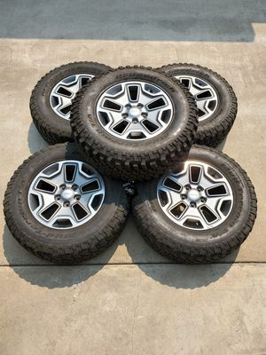 17x7.5 Jeep Rubicon Wheels + Tires 5x127 Rims for Sale in Pasadena, CA